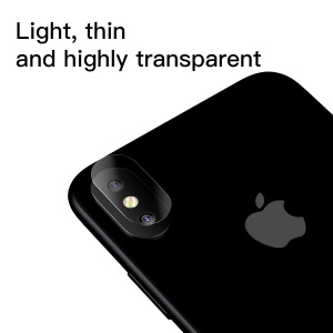 BASEUS Corning Gorilla 0.15MM Full Glue Tempered Glass Lens Protector for iPhone XS / X 5.8-inch Camera Lens