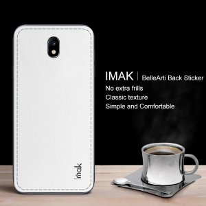 IMAK BelleArti Back Sticker Filmy Leather Decal for Samsung Galaxy J7 (2017) EU/Asia Version / J7 Pro (2017) - White