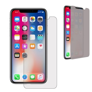 Anti-spy Tempered Glass Screen Protector Film for iPhone Xs / X / Ten 5.8 inch