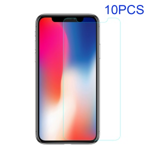 10Pcs/Set 0.25mm Tempered Glass Screen Protectors for iPhone Xs / X 5.8 inch, with Individual Package