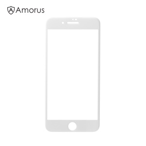 AMORUS 0.3mm 3D Curved Complete Cover protetor de tela de vidro temperado para iPhone 8 Plus - branco