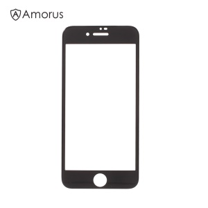 AMORUS for iPhone 8 4.7 3D Curved Full Size Tempered Glass Screen Protector 0.3mm - Black
