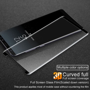IMAK for Samsung Galaxy Note 8 N950 3D Curved Full Size Tempered Glass Screen Protector (Scaled-Down Version) - Black