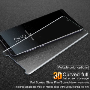IMAK 3D Curved Full Cover Tempered Glass Screen Protector (Scaled-Down Version) for Samsung Galaxy Note 8 N950 - Transparent