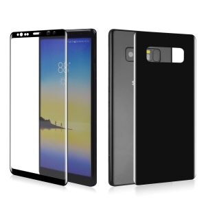 ANGIBABE 0.1mm Full Cover Plated Curved Soft PET Front + Back Screen Protector Film for Samsung Galaxy Note 8 SM-N950 - Black