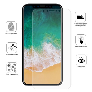 """HAT PRINCE 0.1mm Full Coverage Soft Screen Protector Film for iPhone (2019) 5.8"""" / XS / X 5.8 inch"""