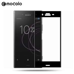 MOCOLO Sérigraphie Arc Edge Full Cover Film de protection en verre trempé pour Sony Xperia XZ1