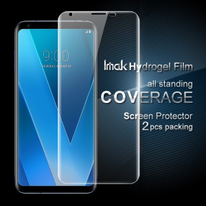 IMAK 2PCS Packing for LG V30 Soft Hydrogel Full Screen Protector Shield Film