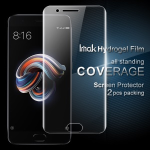 IMAK 2 Pcs Full Screen Complete Covering Soft Hydrogel Protector Film for Xiaomi Mi Note 3