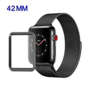 Complete Covering Anti-explosion Tempered Glass Screen Guard for Apple Watch Series 3 42mm