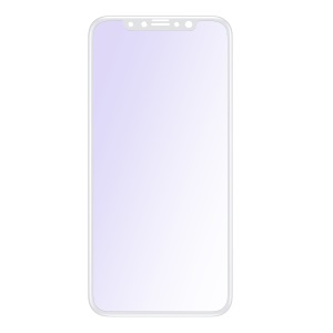 """BASEUS Anti-blue-ray 0.23mm Soft PET Full Glue Full Screen Coverage Tempered Glass Protector Film for iPhone 11 Pro 5.8"""" (2019) / XS / X 5.8 inch - White"""