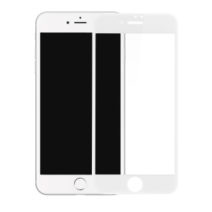 BASEUS for iPhone 8/7 4.7 inch 3D Curved Full Glue Full Coverage Soft PET Screen Tempered Glass Guard Film 0.23mm - White