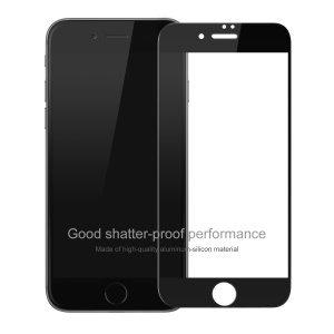 BASEUS 0.2mm Full Glue Tempered Glass Screen Protector for iPhone 8/7 Silk Print Full Size - Black