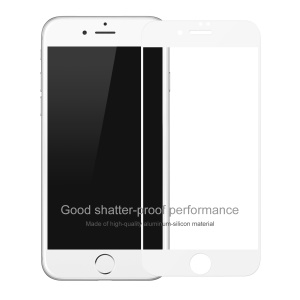 BASEUS 0.2mm Full Glue Tempered Glass Screen Protector Shield Film for iPhone 8 Plus / 7 Plus Silk Print Full Size - White