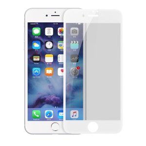 BASEUS Anti-spy Soft PET Full Coverage Full Glue Tempered Glass Screen Protector for iPhone 8 Plus / 7 Plus 5.5 inch - White