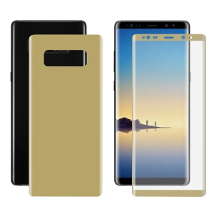 HAT PRINCE 3D Curved Full Cover Soft PET Screen Film + Back Film para Samsung Galaxy Note 8 SM-N950 - ouro