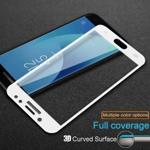 IMAK Full Size 3D Curved Tempered Glass Screen Protector Film for Samsung Galaxy J5 (2017) EU / Asia Version / J5 Pro (2017) - White
