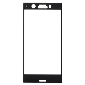 Tempered Glass Full Screen Coverage Protector Film for Sony Xperia XZ1 Compact - Black