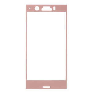 For Sony Xperia XZ1 Compact Tempered Glass Full Screen Protector Film - Rose Gold