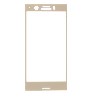 Complete Size Tempered Glass Screen Protector for Sony Xperia XZ1 Compact - Gold