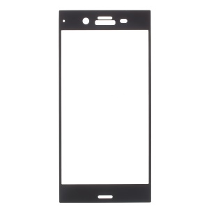 Full Size Tempered Glass Screen Protector for Sony Xperia XZ1 - Black