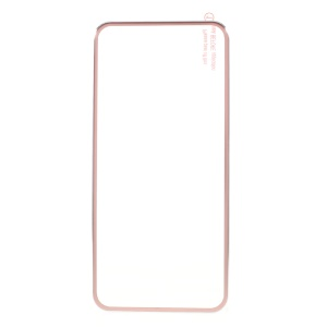 Brushed Titanium Alloy Tempered Glass Full Screen Guard for iPhone 8/iPhone 7/iPhone 6/iPhone 6s - Rose Gold