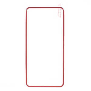Titanium Alloy Edge Complete Tempered Glass Back Protector for iPhone 8 Plus/7 Plus - Red