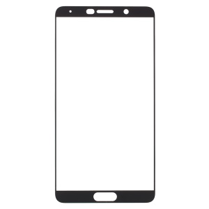 Full Size Silk Print Tempered Glass Screen Protector Film for Huawei Mate 10 - Black