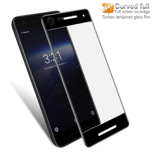 IMAK 3D Curved Tempered Glass Full Screen Coverage Protector for Google Pixel 2 - Black