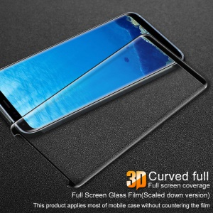 IMAK HD Full Coverage Tempered Glass Screen Protector for Samsung Galaxy S8 SM-G950 - Black
