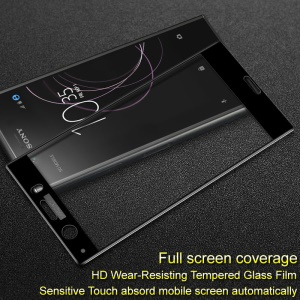 IMAK Full Coverage Anti-explosion Tempered Glass Screen Protector for Sony Xperia XZ1 Compact - Black