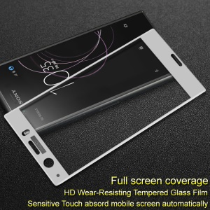 IMAK Full Coverage Anti-explosion Tempered Glass Screen Protector Film for Sony Xperia XZ1 Compact - White