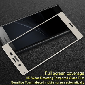 IMAK Full Coverage Anti-explosion Tempered Glass Screen Protector Film for Sony Xperia XZ1 - White