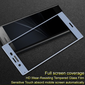 IMAK Full Coverage Anti-explosion Tempered Glass Screen Protector Guard Film for Sony Xperia XZ1 - Blue