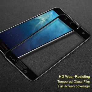 IMAK Complete Coverage Tempered Glass Protector for Samsung Galaxy J7+ / C8 / C7 (2017) - Black