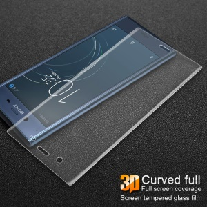 IMAK 3D Curved Full Cover Tempered Glass Screen Protector Film for Sony Xperia XZ1 - Transparent