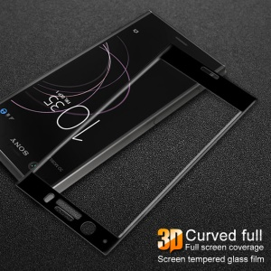 IMAK 3D Curved Full Cover Tempered Glass Screen Protector for Sony Xperia XZ1 Compact - Black
