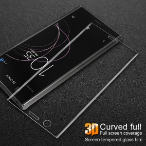 IMAK 3D Curved Full Screen Coverage Tempered Glass Protector Film for Sony Xperia XZ1 Compact - Transparent