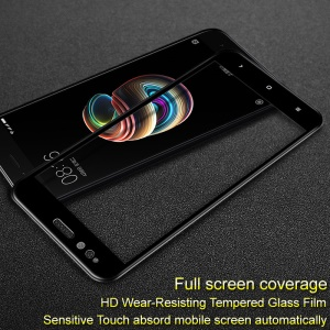 IMAK Pro+ Full Coverage Tempered Glass Screen Protector for Xiaomi Mi A1 / 5X - Black