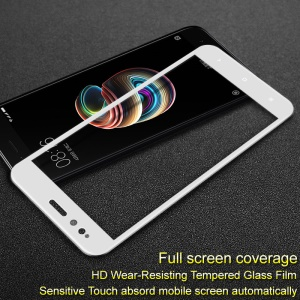 IMAK Pro+ Full Size Tempered Glass Screen Protector for Xiaomi Mi A1 / 5X - White