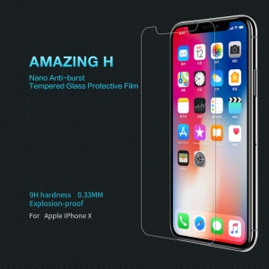 NILLKIN Amazing H Tempered Glass Anti-burst Screen Protector Film for iPhone X