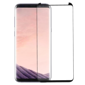 RURIHAI for Samsung Galaxy S8+ Plus SM-G955 3D Curved Full Glue Full Tempered Glass Screen Protector + Screen Protector Pushing Plate - Black