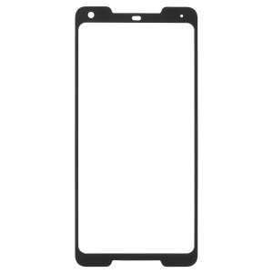 Full Size Silk Print Tempered Glass Screen Protector for Google Pixel 2 XL / Pixel XL2 - Black