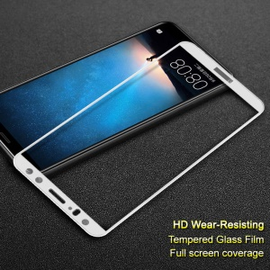 IMAK Full Size Tempered Glass Screen Protector Film for Huawei Mate 10 Lite / nova 2i / Maimang 6 - White