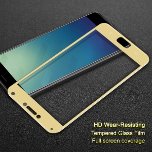 IMAK for Asus ZenFone 4 Max (ZC554KL) HD Full Coverage Tempered Glass Screen Guard Film - Gold