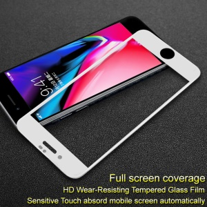 IMAK Pro+ Anti-explosion Tempered Glass Full Screen Guard Film for iPhone 8 Plus/7 Plus 5.5 inch - White