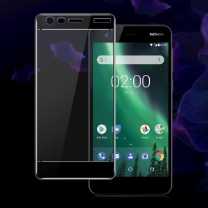 IMAK HD Tempered Glass Full Screen Coverage Protector for Nokia 2 - Black