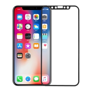 Anti-blue-ray Silk Print Full Size Tempered Glass Screen Protector for iPhone X/10 5.8 inch - Black