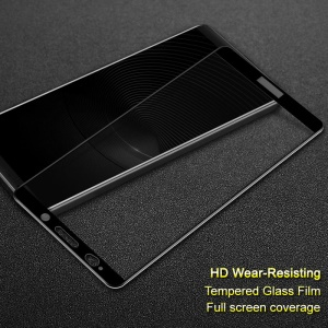 IMAK Complete Coverage Tempered Glass Protector for Huawei Mate 10 Pro - Black