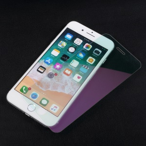 Mirror Effect Complete Coverage Tempered Glass Screen Film for iPhone 8 / 7 - Purple